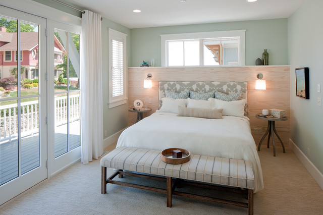 This Room Showcases A Few Of My Favorite Soft And Soothing Hues For Bedrooms Light Sea Glass Green Warm Gray An Ethereal Blue