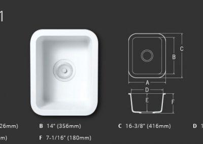 Staron Sinks A1121