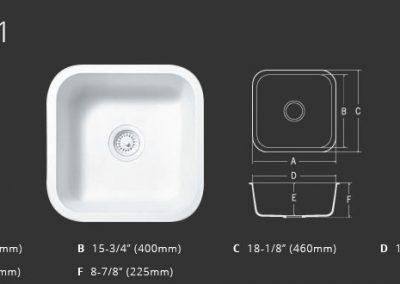 Staron Sinks A1181