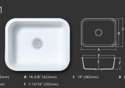 Staron Sinks A1231