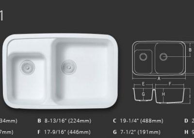 Staron Sinks A2321