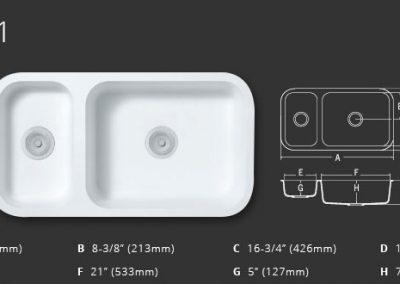 Staron Sinks A2341