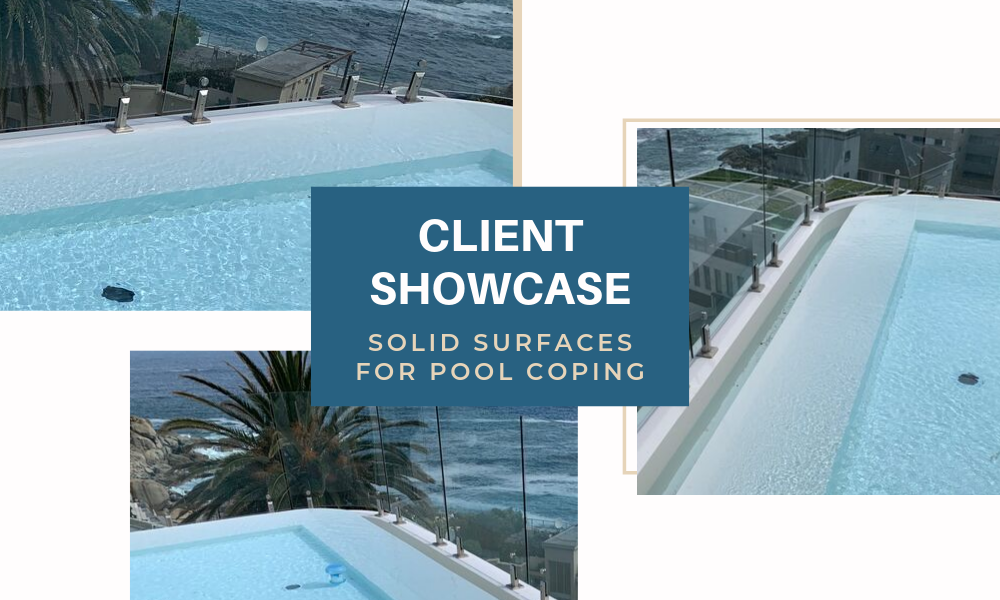 Solid Surfaces for Pool Coping | Client Showcase