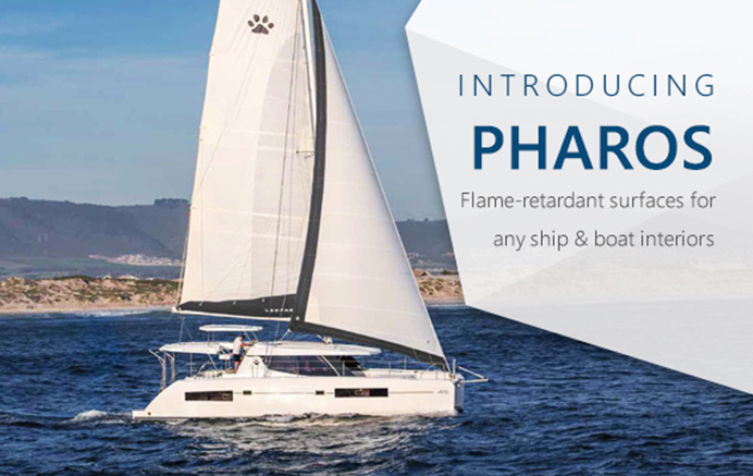 Flame-Retardant Solid Surfaces for Boats | Introducing our Pharos range
